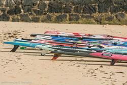Boards am Strand