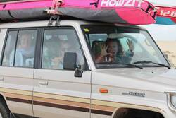 Crazy Grils im Auto