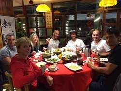 Swiss Team Dinner - super lecker, aber viel zu viel bestellt.